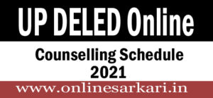 UP DELED Online Counselling Schedule 2021